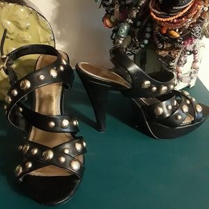 Shoes - LAX Brazen  Sexy Studded Strapped Heels